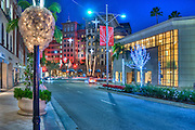Beverly Hills; Rodeo Drive; Luxury Shopping; Los Angeles CA; Christmas Lights; Lighted; Unique; Quality