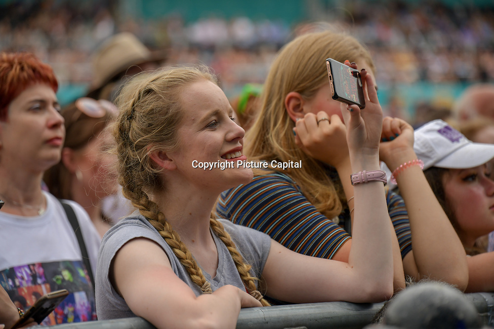 selfies maniac at West End Live 2019 - Day 2 in Trafalgar Square, on 23 June 2019, London, UK.