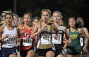 Mar 25, 2017;  Azusa, CA, USA; Tori Gaitan of Yucaipa (2788) and Claire Graves of Citrus Valley (481) run in the girls 3,200m during the 26th Meet of Champions Distance Classic at Azusa Pacific University.