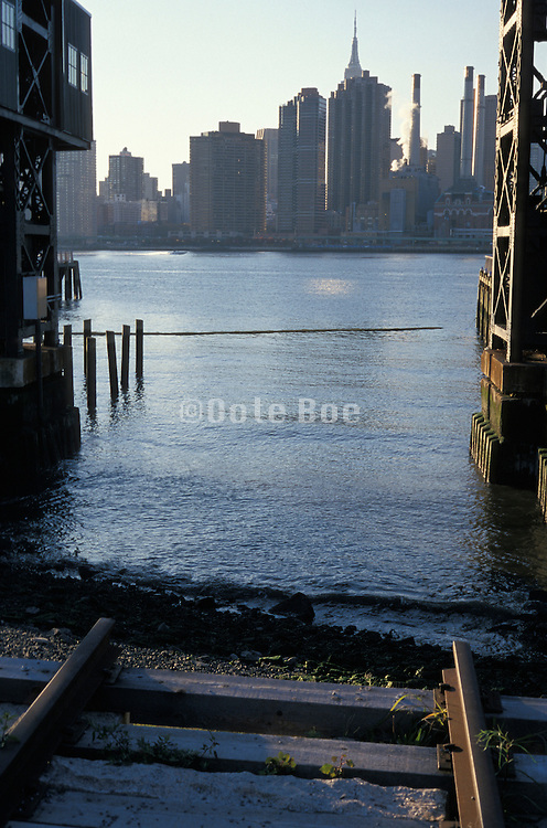 Intimate view of New York City from across the East River