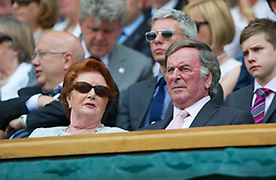 26.06.2012, Wimbledon, London, GBR, WTA, The Championships Wimbledon, im Bild BBC Radio presenter Terry Wogan in the Royal Box during day two of the WTA Tour Wimbledon Lawn Tennis Championships at the All England Lawn Tennis and Croquet Club, London, Great Britain on 2012/06/26. EXPA Pictures © 2012, PhotoCredit: EXPA/ Propagandaphoto/ David Rawcliff..***** ATTENTION - OUT OF ENG, GBR, UK *****