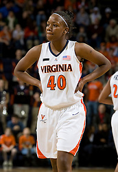 Virginia guard Enonge Stovall (40) during the Maryland game.  The Virginia Cavaliers women's basketball team fell to the #4 ranked Maryland Terrapins 74-62 at the John Paul Jones Arena in Charlottesville, VA on January 18, 2008.