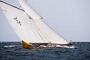 Spartan sailing in the Museum of Yachting Classic Yacht Regatta, race one.