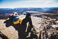 Caroline Gleich on Bald Mountain, Uintahs.