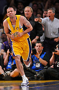 Jordan Farmar reacts to being called for a foul in the first half. The Lakers defeated the Boston Celtics in game 7 of the NBA Finals  83-79 in Los Angeles, CA 06/16/2010 (John McCoy/Staff Photographer).