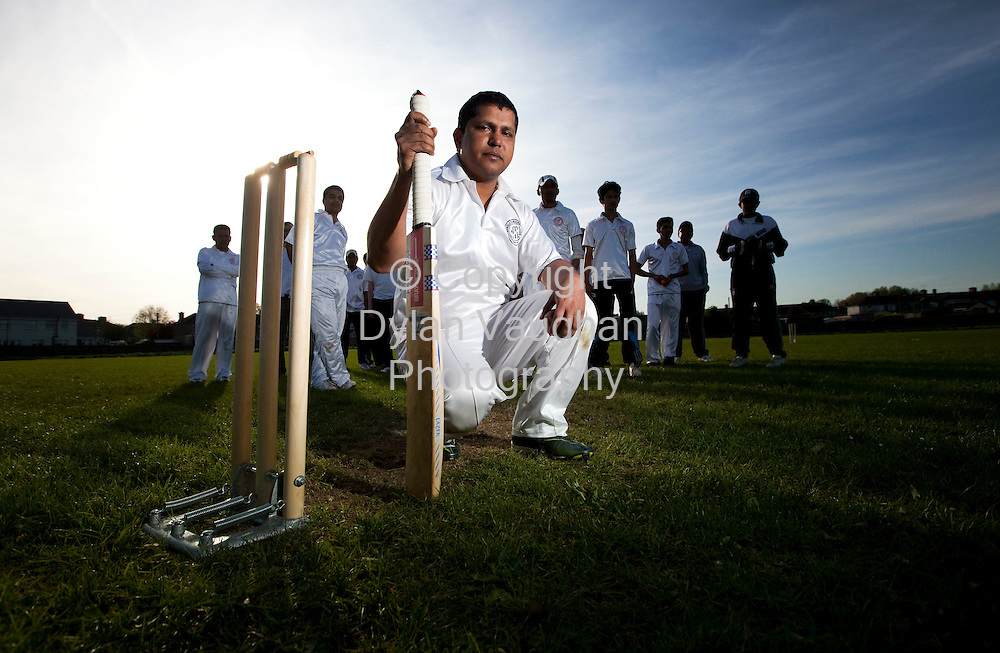 11/5/2009 .Mafi Choudhury from Bangladesh captain of the Bangla Cricket Team in Kilkenny pictured at a recent training session for the team..Picture Dylan Vaughan