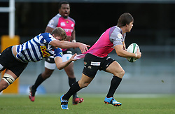 Emile Temperman of the Pumas attempts to get away from Kobus van Dyk of Western Province during the Currie Cup Premier Division match between the DHL Western Province and the Pumas held at the DHL Newlands rugby stadium in Cape Town, South Africa on the 17th September  2016<br /> <br /> Photo by: Shaun Roy / RealTime Images