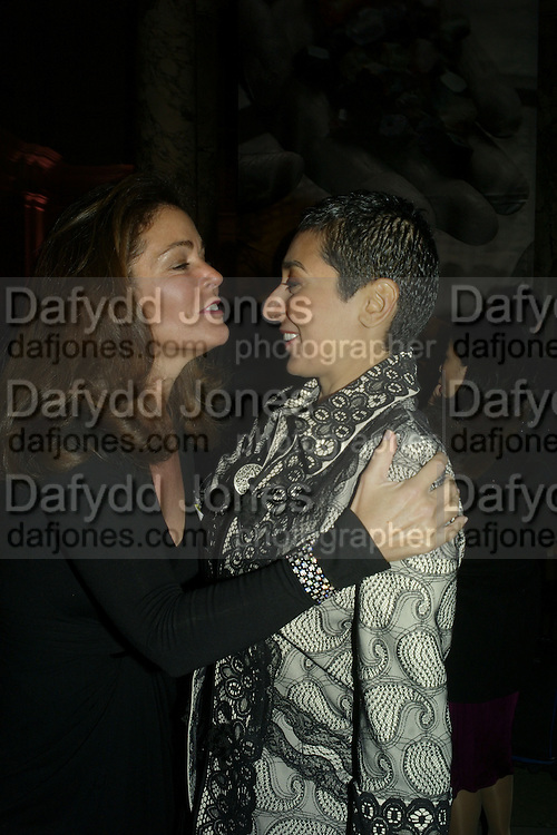 MERCEDES ZOBEL AND ZEINAB SALBI, Women for Women International UK Gala Evening. V. & A. 29 April 2008.  *** Local Caption *** -DO NOT ARCHIVE-© Copyright Photograph by Dafydd Jones. 248 Clapham Rd. London SW9 0PZ. Tel 0207 820 0771. www.dafjones.com.
