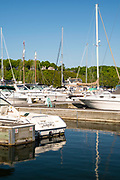 View of Fish Creek Harbor, Fish Creek, Wisconsin.