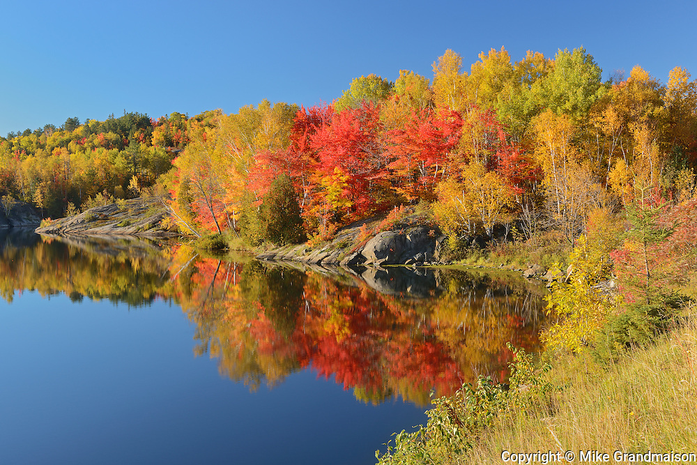 Autumn colors on Simon Lake (Simon Lake Conservation Area)<br /> NAughton<br /> Ontario<br /> Canada