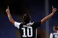 Juventus's Argentinian striker Paulo Dybala celebrates after scoring to give the side a 1-0 lead during the Serie A match at Luigi Ferraris, Genoa. Picture date: 30th June 2020. Picture credit should read: Jonathan Moscrop/Sportimage