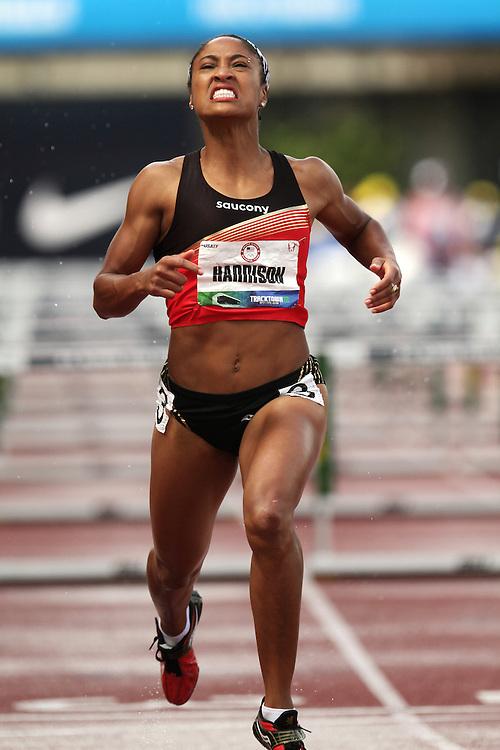 Olympic Trials Eugene 2012: womens' 100 meter hurdles, Queen Harrison,