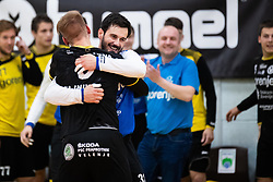Emir Taletovic of RK Gorenje Velenje celebrating victory after handball match between RK Gorenje Velenje and MRK Krka in Final of Slovenian Men Handball Cup 2018/19, on Maj 12, 2019 in Novo Mesto, Slovenia. Photo by Grega Valancic / Sportida