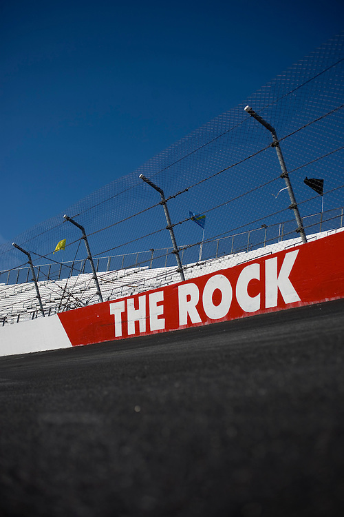 Turn one at Rockingham Speedway.