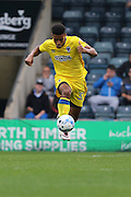 AFC Wimbledon striker Lyle Taylor (33) during the EFL Sky Bet League 1 match between Rochdale and AFC Wimbledon at Spotland, Rochdale, England on 27 August 2016. Photo by Stuart Butcher.