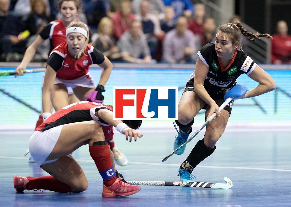 BERLIN - Indoor Hockey World Cup<br /> Quarterfinal 3: Germany - Poland<br /> foto: Lisa Altenburg.<br /> WORLDSPORTPICS COPYRIGHT FRANK UIJLENBROEK