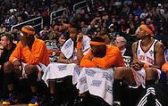 Mar. 26 2010; Phoenix, AZ, USA; New York Knicks bench reacts at the US Airways Center.  The Suns defeated the Knicks 132-96.  Mandatory Credit: Jennifer Stewart-US PRESSWIRE.