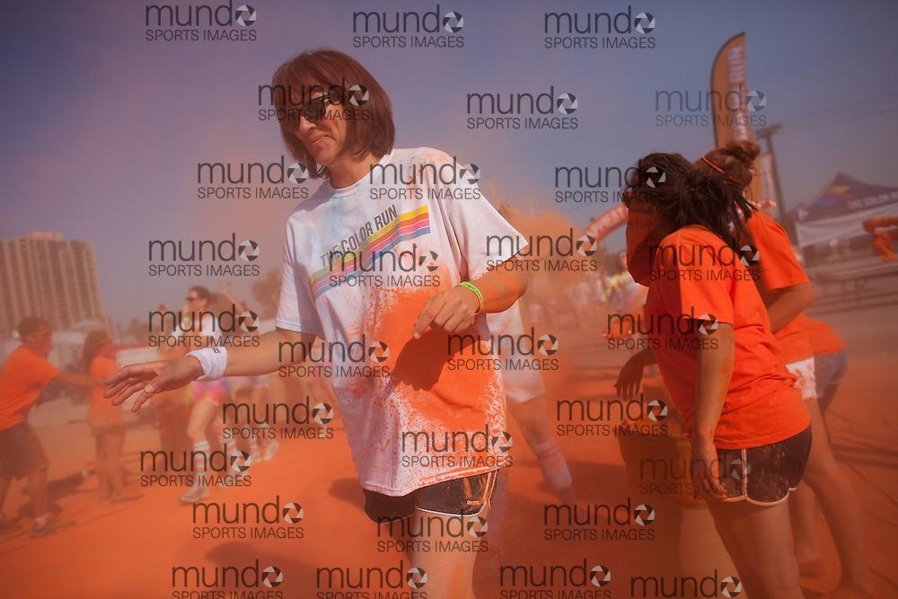 London, Ontario- 20130817-- Participants in the Color Run in London, Ontario, August 17, 2013. <br /> (Geoff Robins/ The Color Run/ Mundo Sport Images)