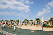 Israel, Tel Aviv, the renovated promenade in the old port, now an entertainment centre