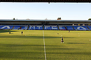 general view of Macclesfield town stadium (Moss Rose) EFL Sky Bet League 2 match between Macclesfield Town and Bradford City at Moss Rose, Macclesfield, United Kingdom on 30 November 2019.