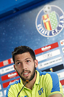Getafe's new player Dani Pacheco during his official presentation. August 2, 2016. (ALTERPHOTOS/Acero)