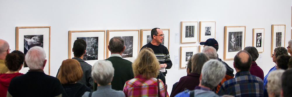 "Kenton Rowe talking about the Ansel Adams Photograph ""Tenaya Creek, Dogwood, Rain"" during a 2013 lecture at the Holter Museum of Art in Helena, MT"