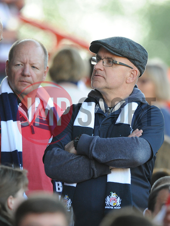 Bristol Rugby fans - Photo mandatory by-line: Dougie Allward/JMP - Mobile: 07966 386802 - 20/05/2015 - SPORT - Rugby - Bristol - Ashton Gate - Bristol Rugby v Worcester Warriors - Greene King IPA Championship - Play-Off Final
