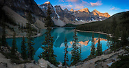 Sunrise at Valley of the Ten Peaks, Moraine Lake, Banff NP, Canada