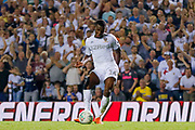 Leeds United forward Edward Nketiah (14), on loan from Arsenal, scores a goal to make the score 1-2 during the EFL Cup match between Leeds United and Stoke City at Elland Road, Leeds, England on 27 August 2019.