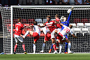 Goal - Andreas Weimann (14) of Bristol City scores a goal to give a 1-0 lead to the home team during the EFL Sky Bet Championship match between Bristol City and Nottingham Forest at Ashton Gate, Bristol, England on 4 August 2018. Picture by Graham Hunt.