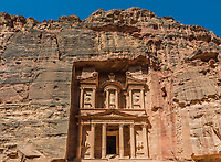 Al Khazneh or The Treasury in Nabatean Petra Jordan middle east