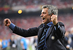 JOSE MOURINHO.INTER MILAN MANAGER.BAYERN MUNICH V INTER MILAN.SANTIAGO BERNABEU, MADRID, SPAIN.22 May 2010.GAD14537..  .WARNING! This Photograph May Only Be Used For Newspaper And/Or Magazine Editorial Purposes..May Not Be Used For, Internet/Online Usage Nor For Publications Involving 1 player, 1 Club Or 1 Competition,.Without Written Authorisation From Football DataCo Ltd..For Any Queries, Please Contact Football DataCo Ltd on +44 (0) 207 864 9121