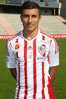 Riad Nouri during the photocall of Ac Ajaccio for new season on October 17th 2016<br /> Photo : Jean Pierre Belzit / Icon Sport
