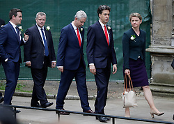 © Licensed to London News Pictures. 20/06/2016. London, UK. Members of Parliament, including former Labour Party leader ED MILIBAND and YVETE COOPER MP arrive at St Margaret's Church, Westminster Abbey to take part in a Service of Prayer and Remembrance to commemorate Jo Cox MP, who was killed in her constituency on June 16, 2016. Photo credit: Peter Macdiarmid/LNP