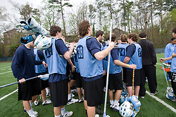 04 April 2008: North Carolina Tar Heels men's lacrosse midfielder Cryder DiPietro (48) on the turf during practice in Chapel Hill, NC.
