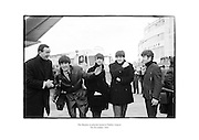 The Beatles in playful mood at Dublin Airport.<br />