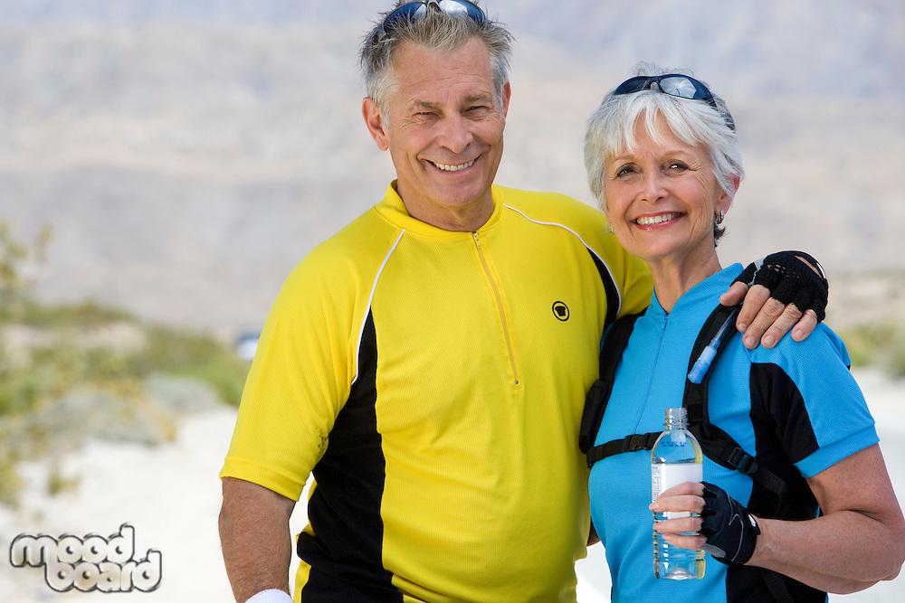 Portrait of Senior couple in sportswear