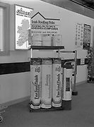 Irish roofing feels display stand at Cladurck's,<br /> 1st June 1984 ,