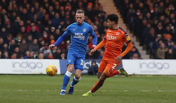 Joe Ward of Peterborough United in action with James Justin of Luton Town - Mandatory by-line: Joe Dent/JMP - 19/01/2019 - FOOTBALL - Kenilworth Road - Luton, England - Luton Town v Peterborough United - Sky Bet League One