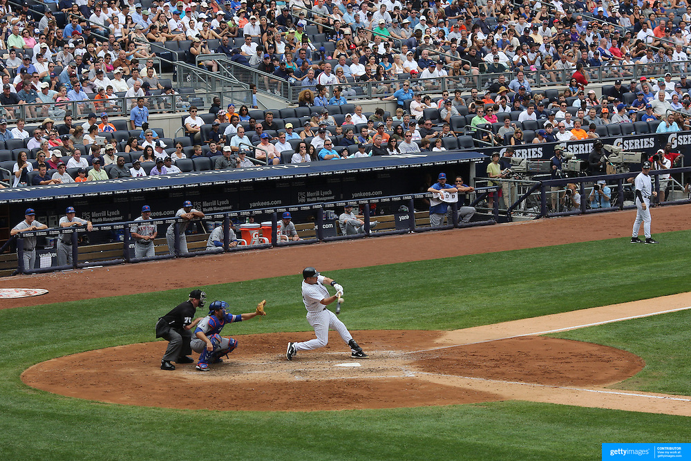 Mark Teixeira batting for the New York Yankees during the New York Yankees V New York Mets Subway Series Baseball game at Yankee Stadium, The Bronx, New York. 10th June 2012. Photo Tim Clayton