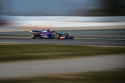 February 18, 2019 - Barcelona, Catalonia, Spain - DANIIL KVYAT (RUS) from team Toro Rosso drives in his in his STR14 during day one of the Formula One winter testing at Circuit de Catalunya (Credit Image: © Matthias OesterleZUMA Wire)