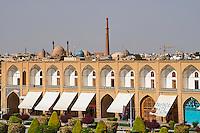 Iran, province d'Ispahan, Ispahan, Place de l'Imam, classée Patrimoine Mondial de l'UNESCO // Iran, Isfahan, Imam Square, world heritage of the UNESCO