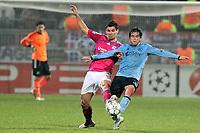 FOOTBALL - UEFA CHAMPIONS LEAGUE 2011/2012 - GROUP STAGE - GROUP D - OLYMPIQUE LYONNAIS v AJAX AMSTERDAM - 22/11/2011 - PHOTO EDDY LEMAISTRE / DPPI - DEJAN LOVREN  (OL) AND NICOLAS LODEIRO  (AJAX)