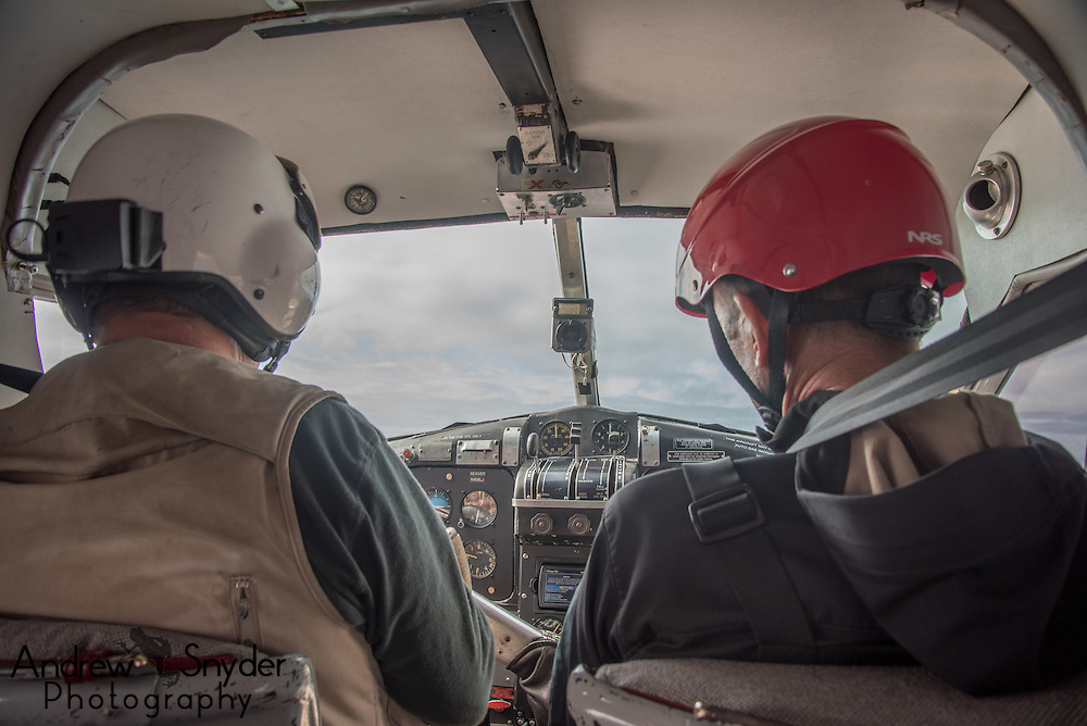 Flying into our location in the field - Katmai, Alaska