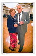 American Legion's Fifth Annual Military Ball/Post Commanders Night at the Stuart Thomas Manor, 2143 Boundary Avenue, Farmingdale, New York, USA, on Saturday, February 18, 2012. PCC Robert Thomas Riordan and wife Margaret Riordan dancing.