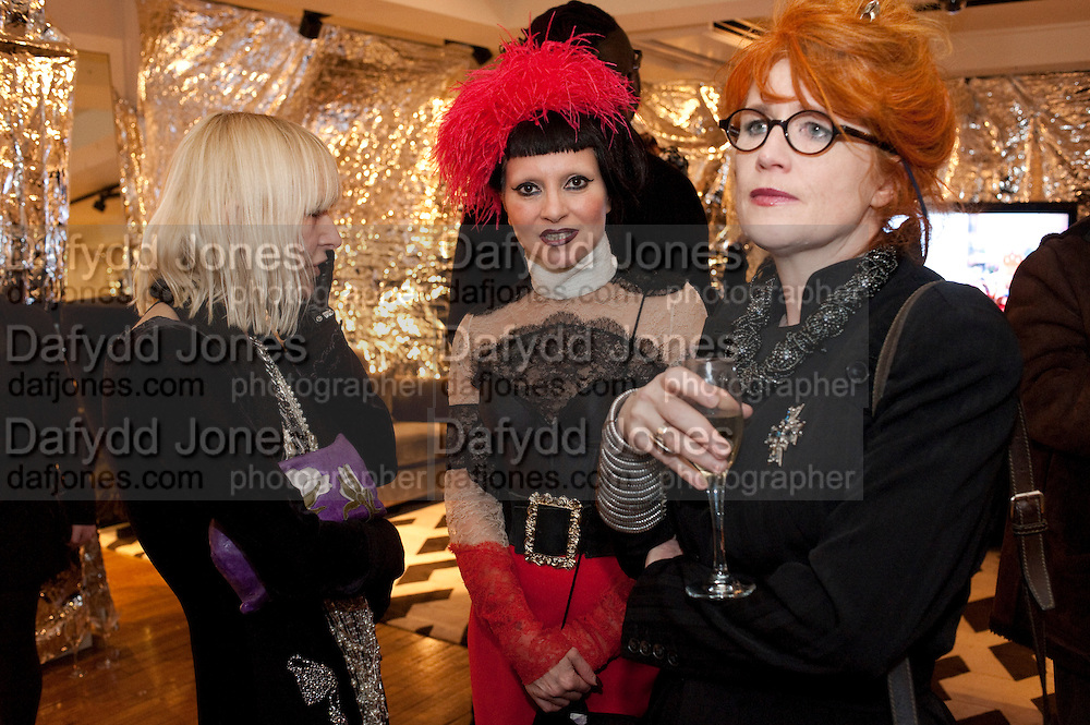 VIRGINIA BATES; PRINESS JULIA; JUDITH WATT, party to celebrate Alexander Wang at Liberty and The Androgyny Issue of LOVE, hosted by Katie Grand, Alexander Wang, and Ed Burstell of Liberty, Liberty. Great Marlborough St. London. 21 February 2011. -DO NOT ARCHIVE-© Copyright Photograph by Dafydd Jones. 248 Clapham Rd. London SW9 0PZ. Tel 0207 820 0771. www.dafjones.com.