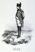Napoleon I (1769-1821) in  1805.  Engraving