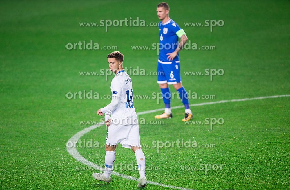 Luka Zahovic of Slovenia during football match between National Teams of Slovenia and Cyprus in Final Tournament of UEFA Nations League 2019, on October 16, 2018 in SRC Stozice, Ljubljana, Slovenia. Photo by Vid Ponikvar / Sportida