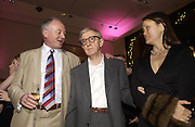 "KEN LIVINGSTONE, WOODY ALLEN AND SOON-YI PREVIN.  The after show party following the UK Premiere of ""Match Point,"" at Asprey, New Bond st. London.   December 18 2005 ,  ONE TIME USE ONLY - DO NOT ARCHIVE  © Copyright Photograph by Dafydd Jones 66 Stockwell Park Rd. London SW9 0DA Tel 020 7733 0108 www.dafjones.com"