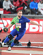 Lukas  Weisshaidinger (AUT) places third in the discus at 219-8 (66.97m) during the Bauhaus-Galan in a IAAF Diamond League meet at Stockholm Stadium in Stockholm, Sweden on Thursday, May 30, 2019. (Jiro Mochizuki/Image of Sport)